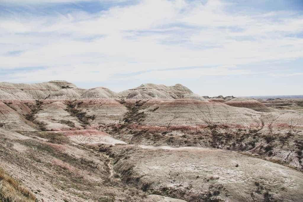 Badlands National Park in the spring