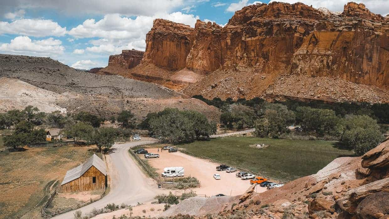 View of Capitol Reef National Park