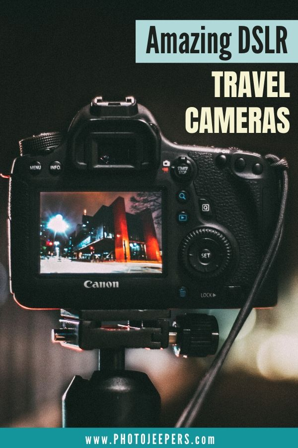 Guide to help you find the Best DSLR Cameras for Travel Photography: The 10 best DSLR cameras for travel | How to choose the best DSLR camera for travel photography | The essential features of a GOOD travel photography DSLR | Tips and insights for buying lenses and camera accessories #photography #cameragear #travelphotography #photojeepers