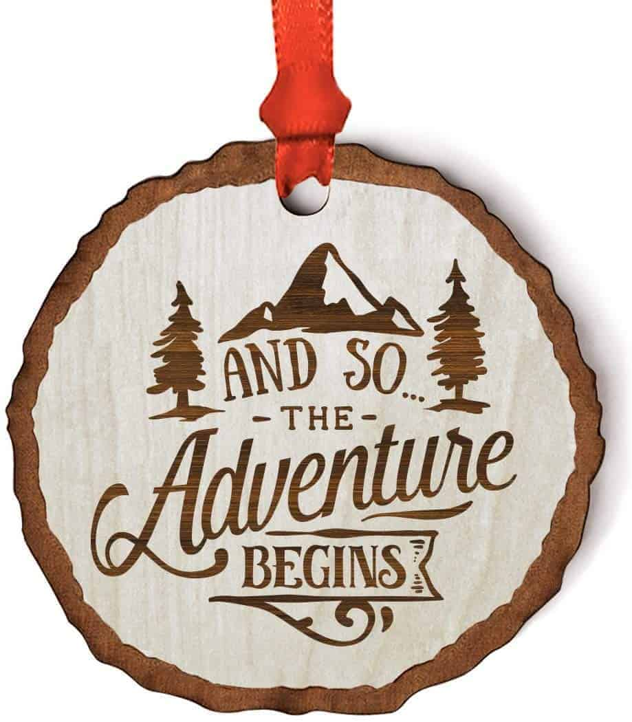 And so the adventure begins Christmas ornament