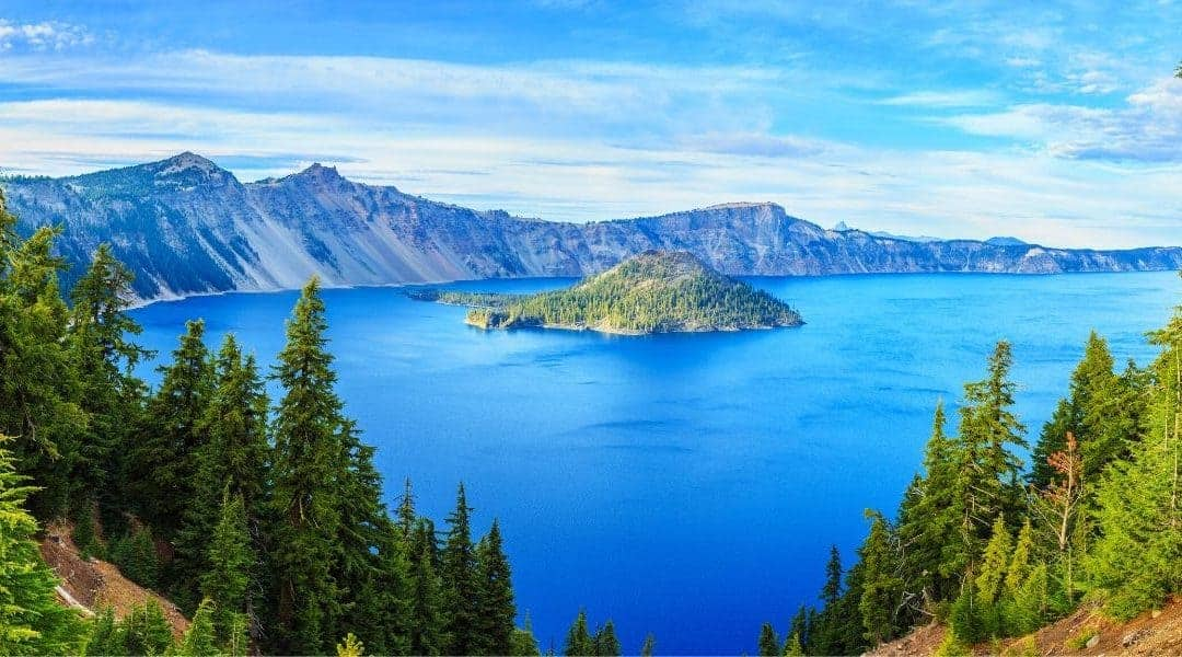 Visit a US National Park in the summer, like Crater Lake.