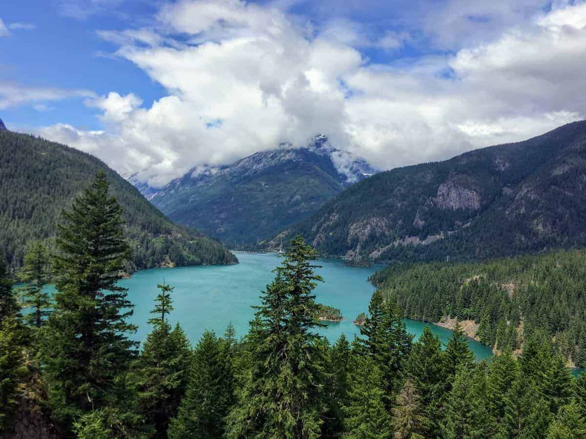 North Cascades National Park in the summer.