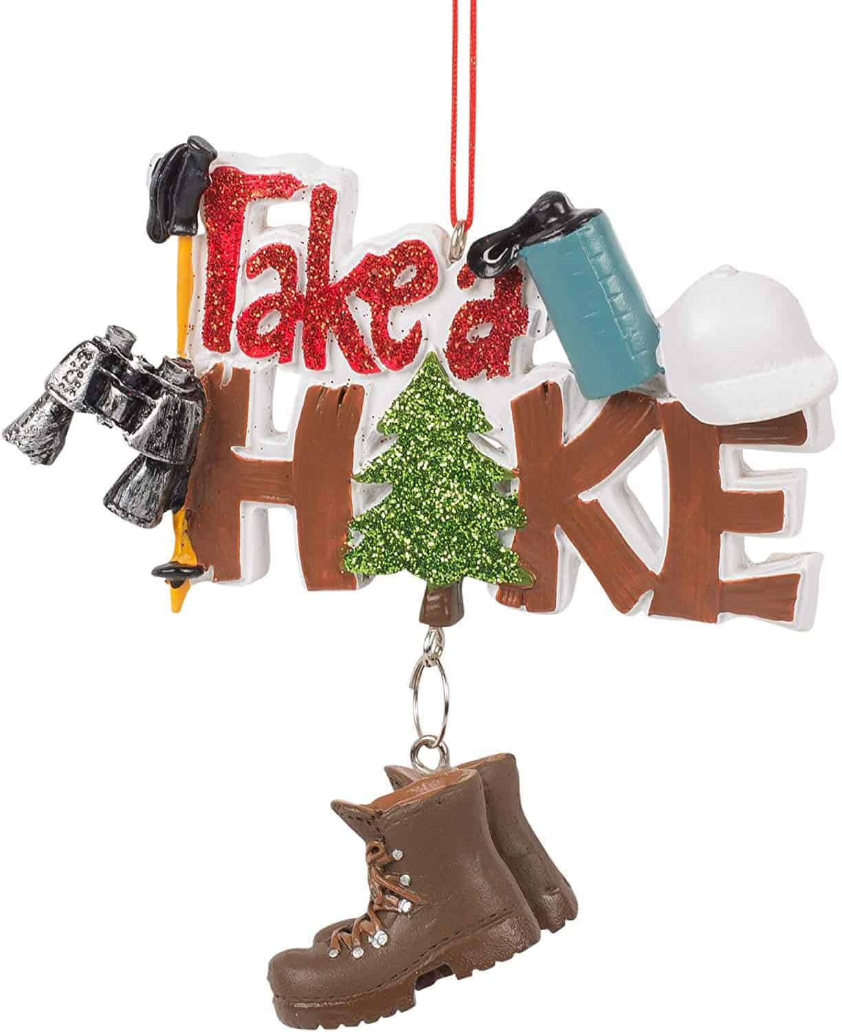 Take a hike Christmas ornament