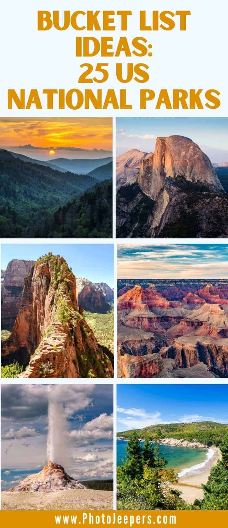 Bucket list ideas: 25 US National Parks