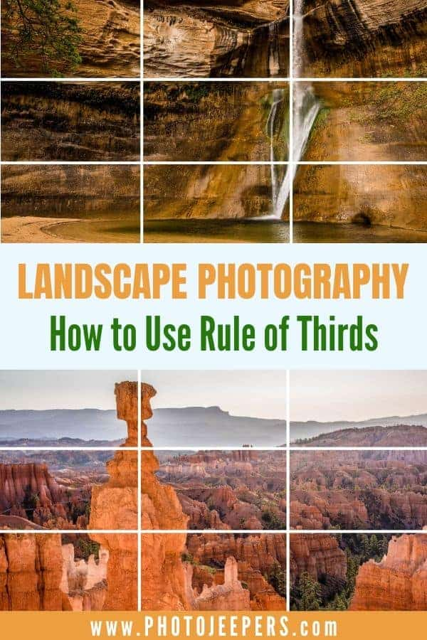 The rule of thirds is an elemental composition principle used to create visual interest and impact in your photos. It's a simple technique that involves positioning important elements in your photo along imaginary grid lines that divide your scene into thirds, both horizontally and vertically. #photography #phototips #landscapephotography #photojeepers