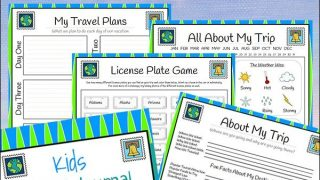 Travel Journal for Kids - Free 28-page Printable Packet