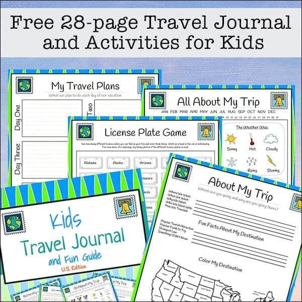 travel printables for travel journals
