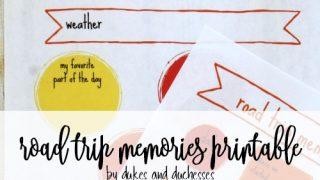 Road Trip Memories Printable
