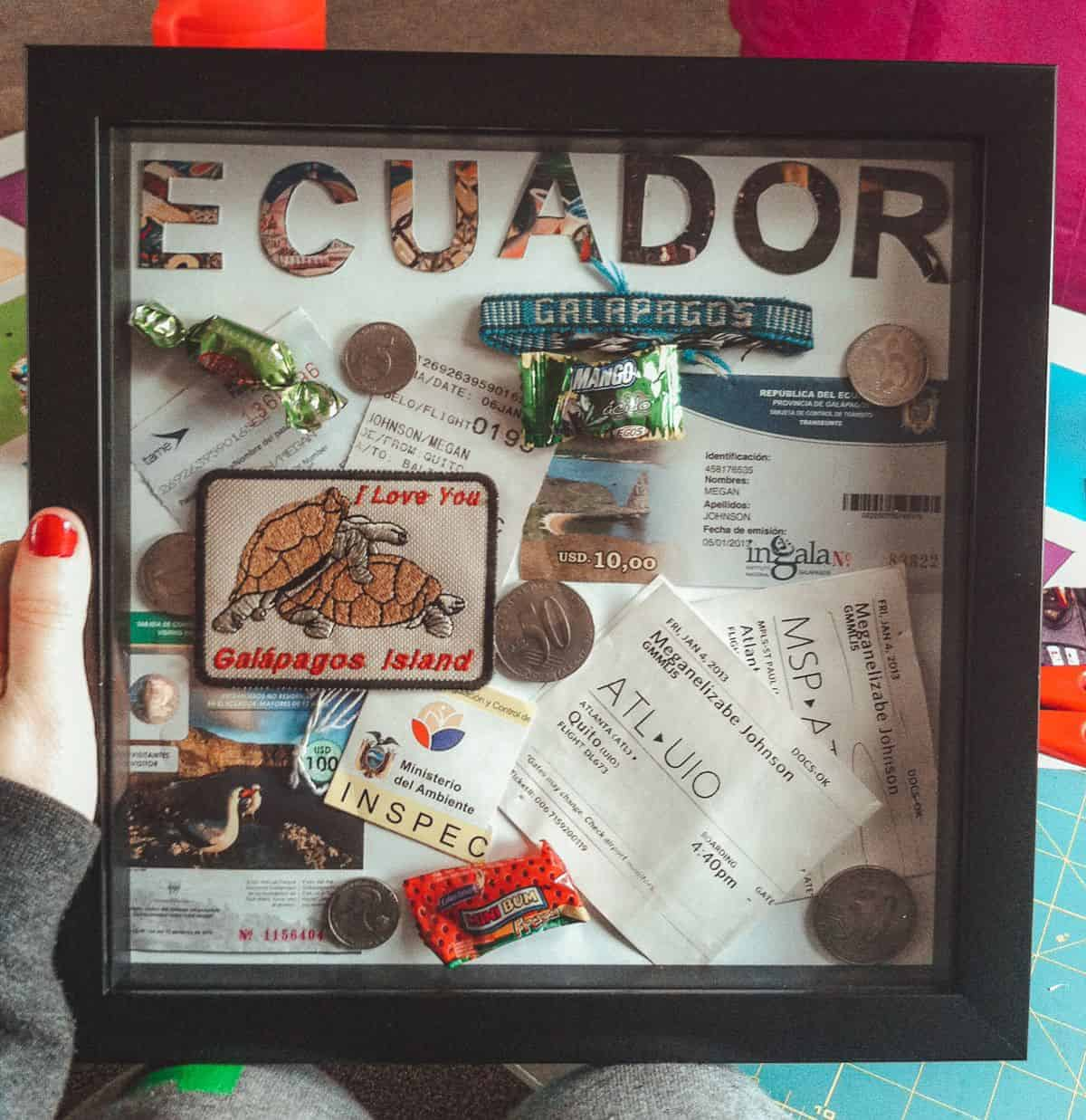 DIY shadow boxes are perfect for displaying travel memorabilia