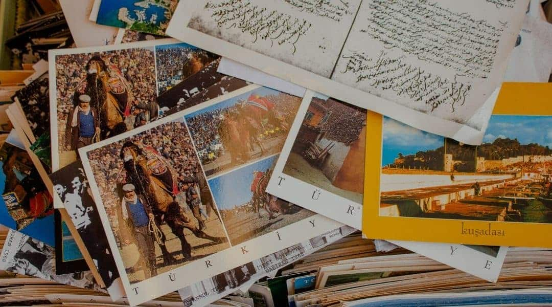travel postcards: travel memory book idea