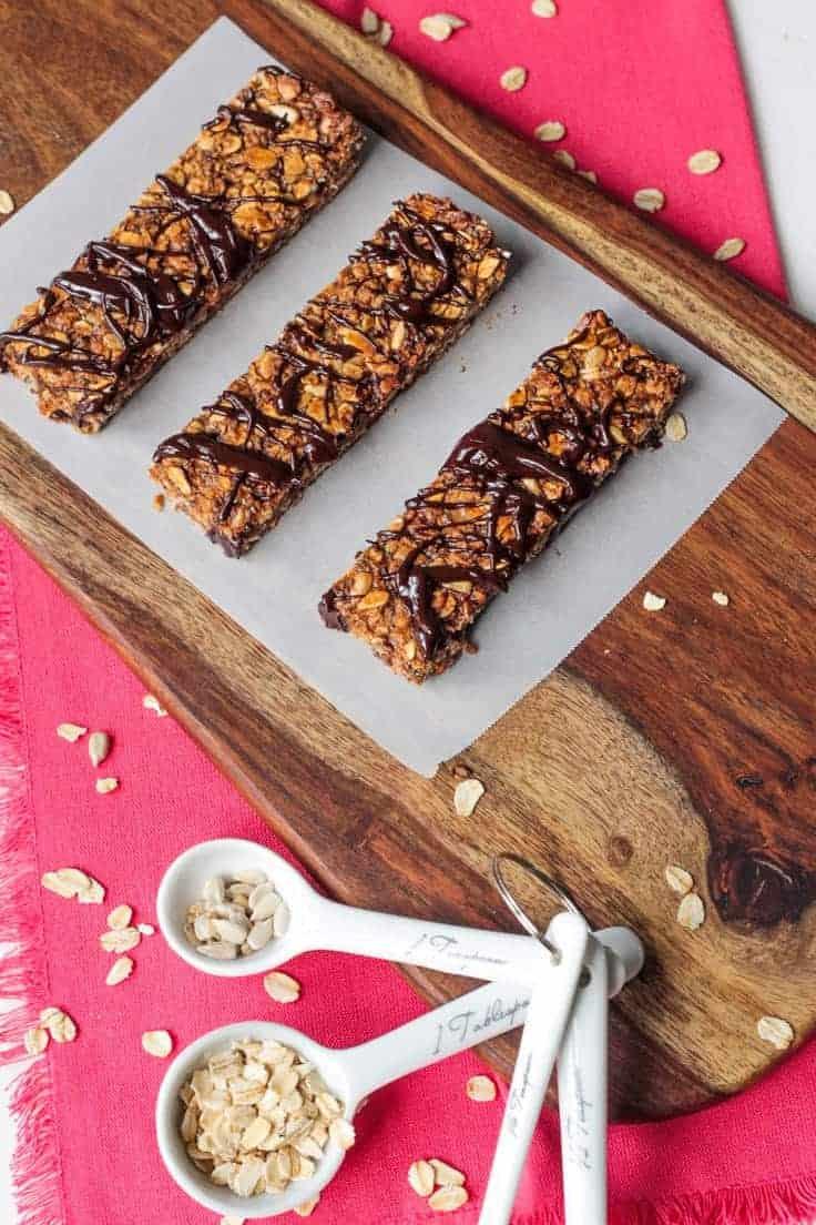 Tahini Dark Chocolate Vegan Granola Bars