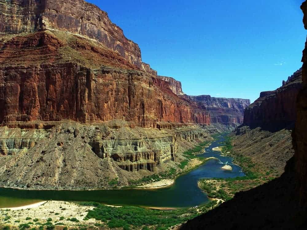 Grand Canyon and Colorado River below the rim.