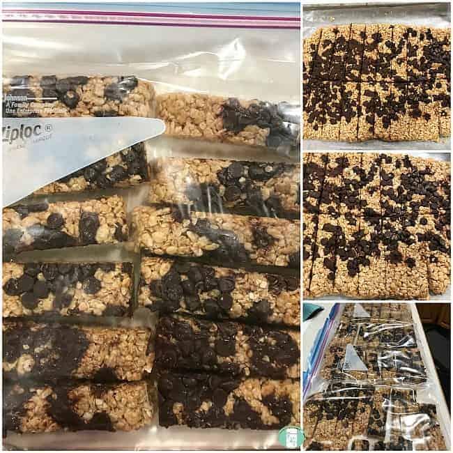 Homemade Granola Bars (freezer friendly)