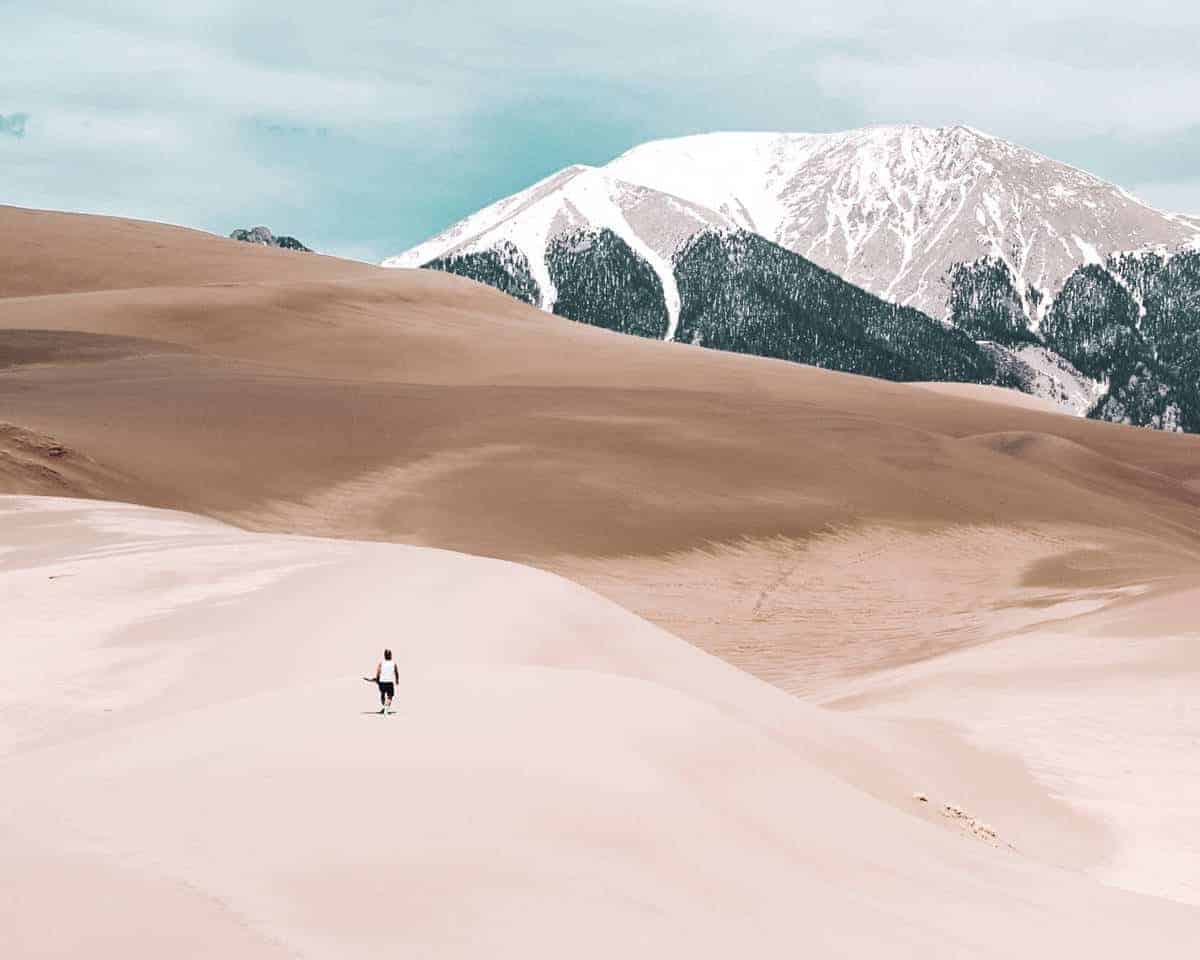 The vast landscape of sand at Great Sand Dunes National Park.