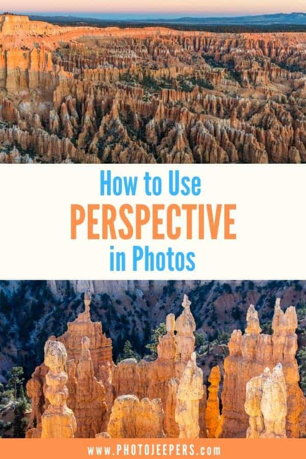 How to use perspective in photos. The technique of perspective in photography is simple, yet creates impact. Learn all about perspective and how to use it to create impactful photos! #photography #phototips #landscapephotography #photojeepers
