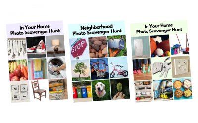 Photo Scavenger Hunt Cards for Kids