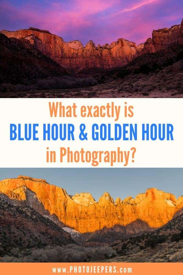 All you need to know about blue hour and golden hour photography: Camera equipment to photograph golden hour and blue hour | What is golden hour? | What is blue hour in photography? #photography #landscapephotography #travelphotography #photojeepers