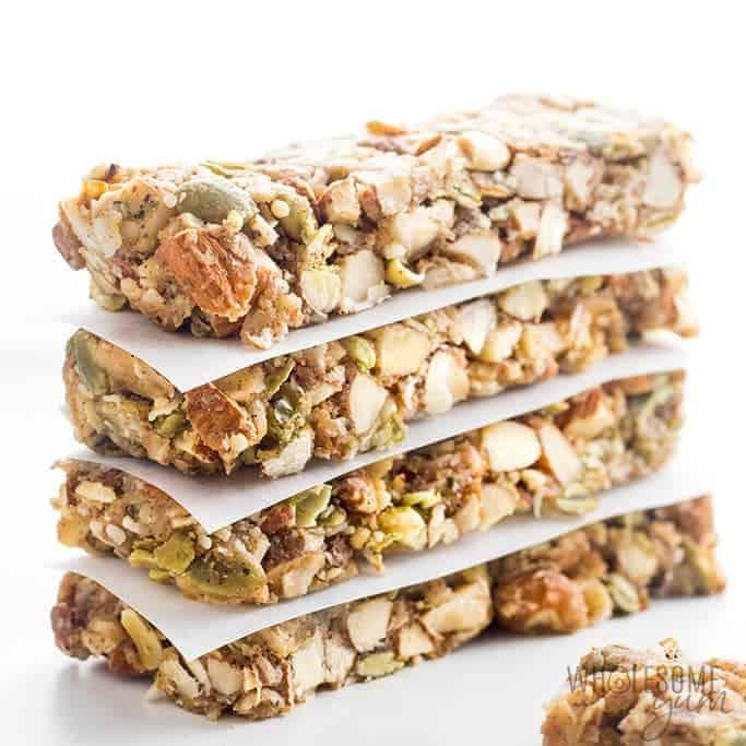BEST Sugar-free Keto Low Carb Granola Bars Recipe