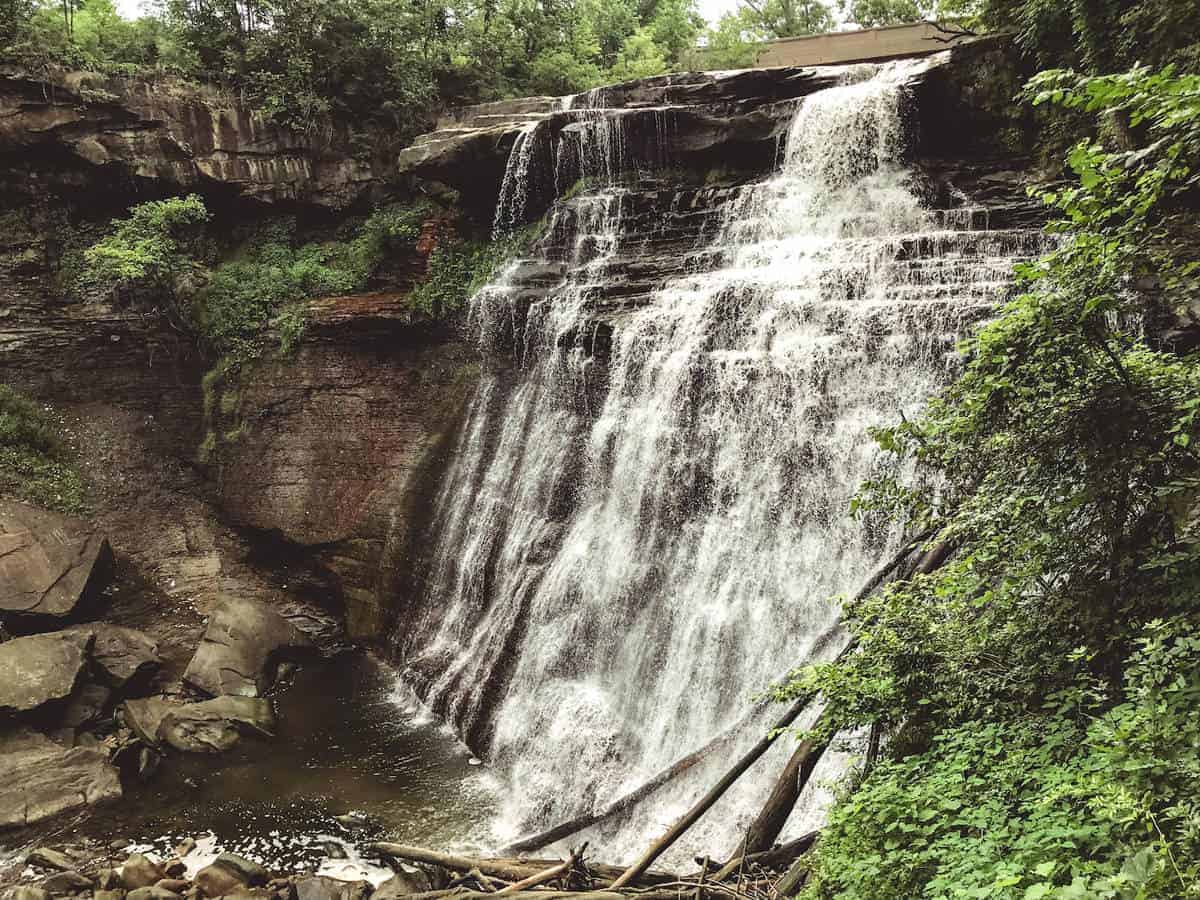 Breathtaking Brandywine Falls at Cuyahoga Valley National Park.