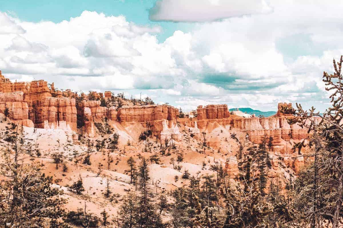 Unique landscape of hoodoos at Bryce Canyon.