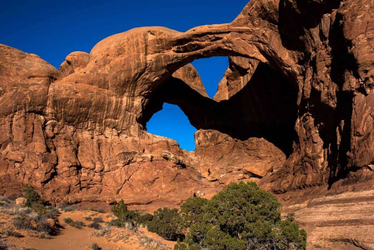 Double Arch found at Arches National Park.