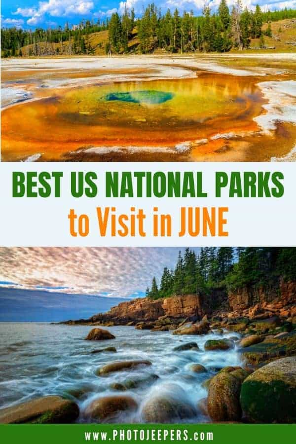 Best US National Parks to visit in June: What to pack for a trip to national parks in June | Things to do at national parks in June #nationalparks #summervacation #familytravel #photojeepers