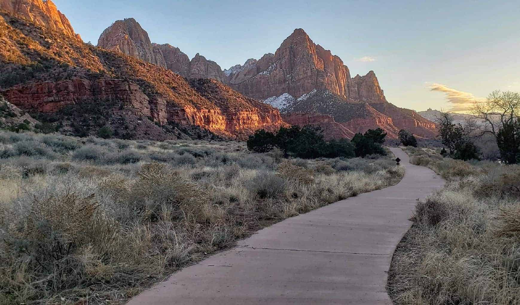 There are hiking trails at Zion for all ages and levels.