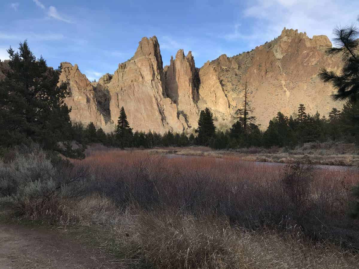 Smith Rock State Park in Oregon has awesome summer hiking trails.