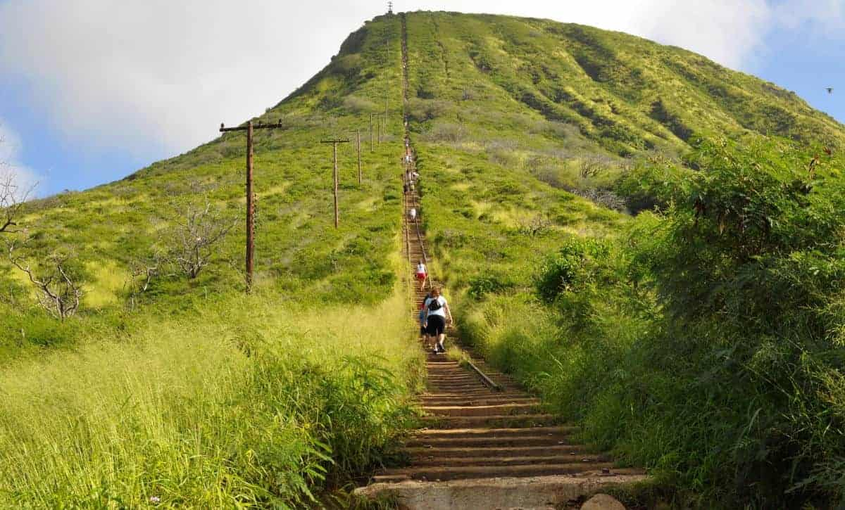 Explore Hawaii along the Koko Head hiking trail.
