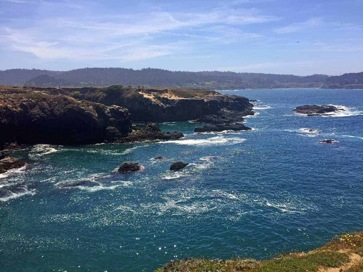 The views are spectacular when hiking at Mendocino Headlands State Park.