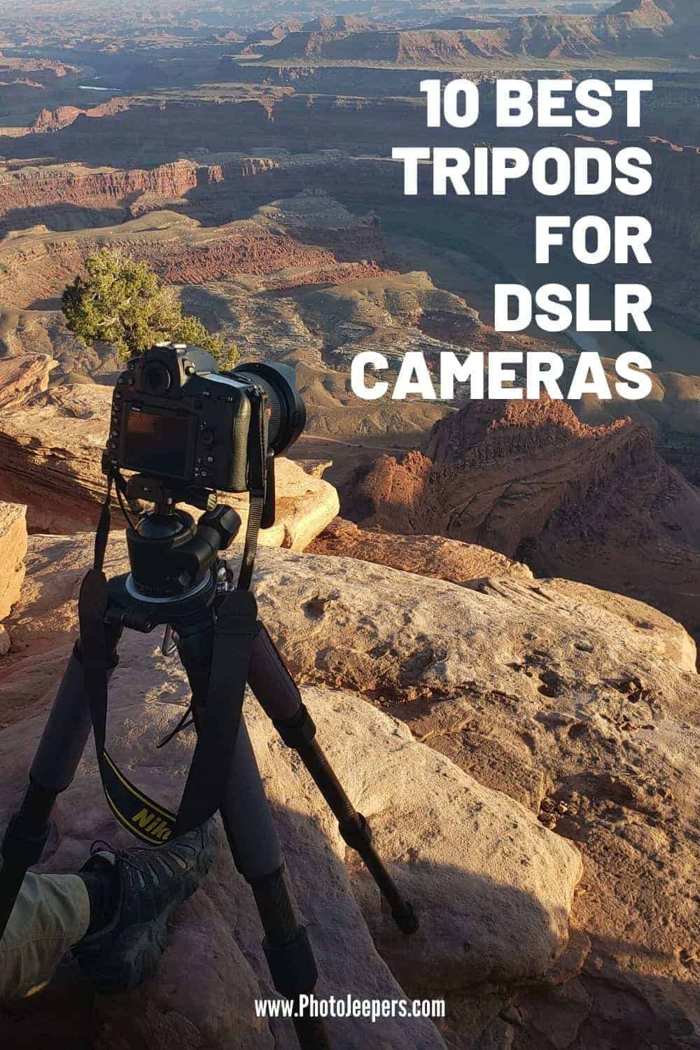 Are you looking for the best tripod for heavy lenses and DSLR cameras? In this guide, we have featured the top 10 sturdy tripods to buy, for all budgets! #photography #cameragear #tripod #photojeepers