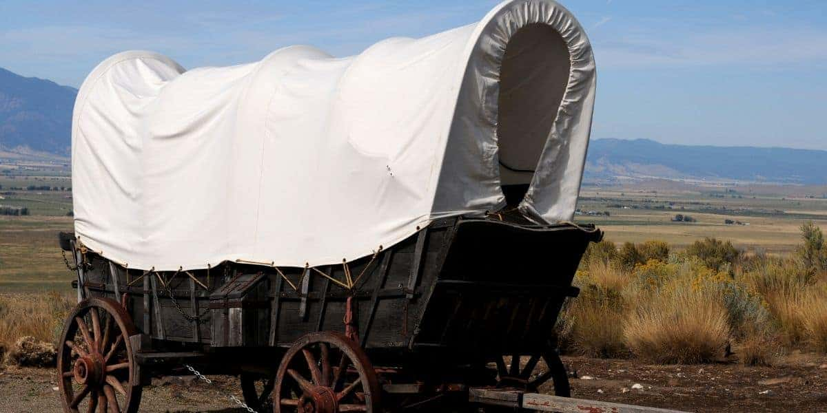 Conestoga wagon at National Historic Oregon Trail Interpretive Center