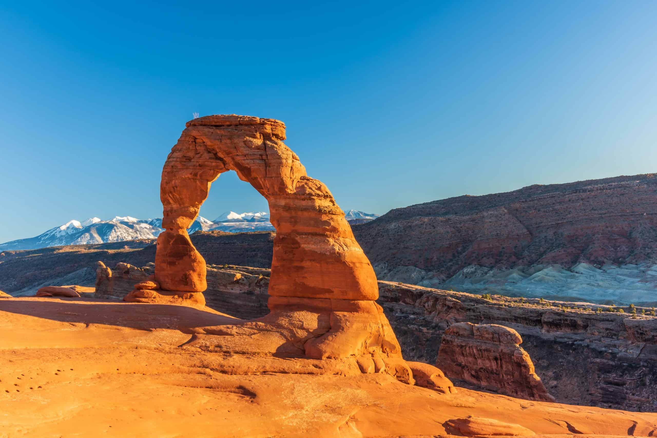 Iconic Delicate Arch at Arches National Park.