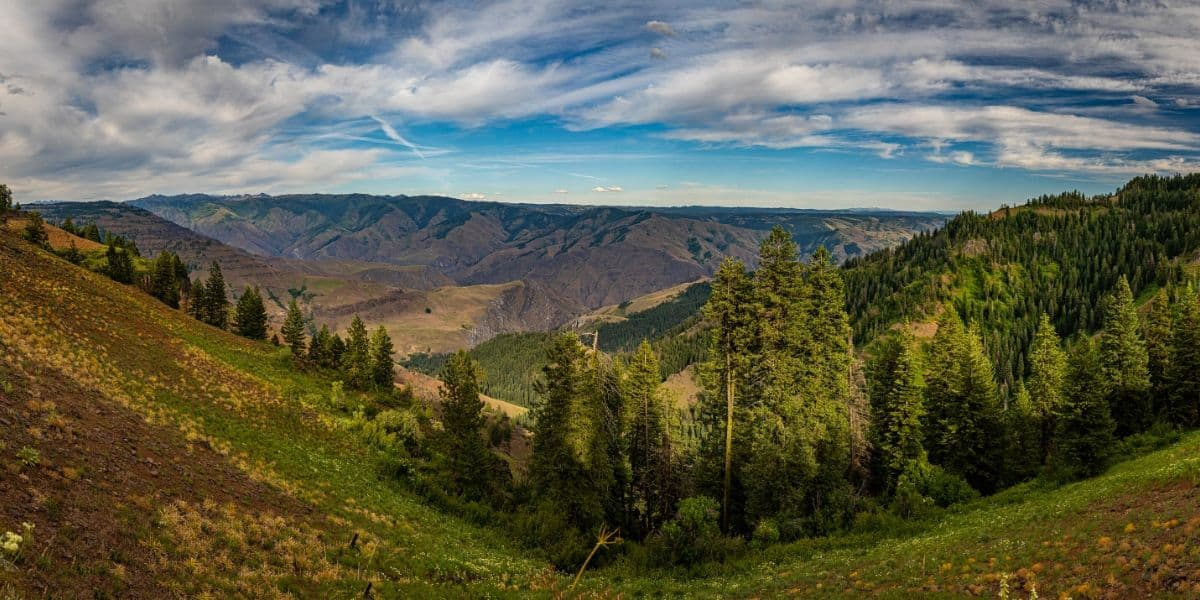 The view of Hell's Canyon in Northeast Oregon.