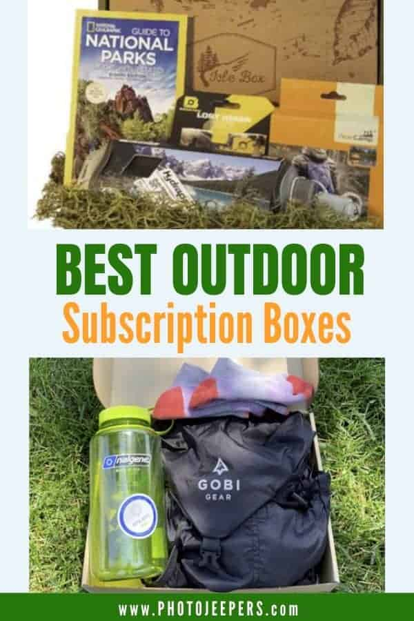 Outdoor subscription boxes are a fun and economical way to try new products and gear. #outdoors #hiking #healthysnacks #photojeepers