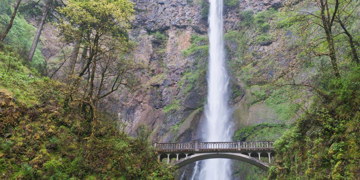 Iconic Multnomah Falls is a must-stop in the Columbia River Gorge.