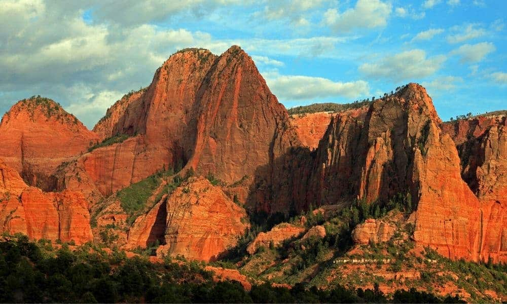 Kolob Canyon offers a scenic drive during the summer in Zion National Park.