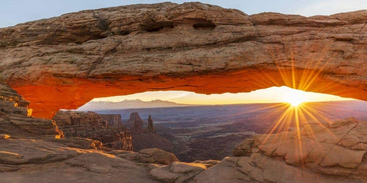 Sunrise photography at Mesa Arch in Canyonlands