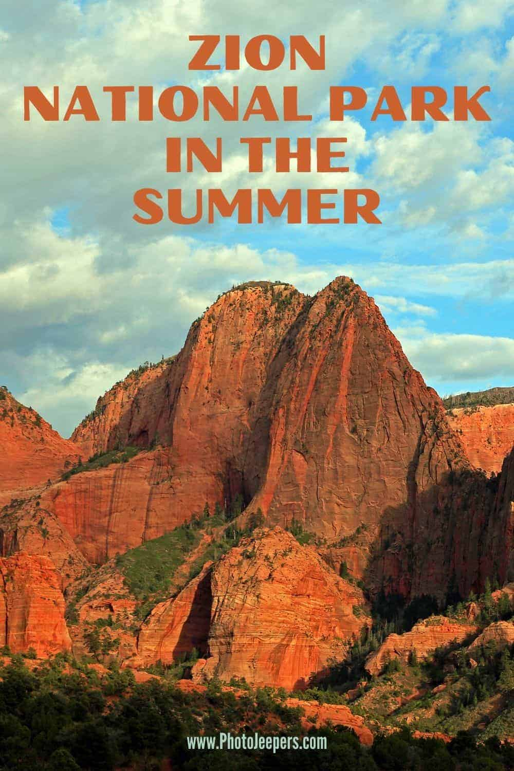 Zion National Park in the summer is an experience you'll never forget. It is truly the best place to explore the great outdoors.