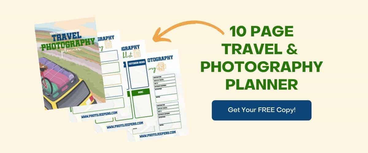 10 page travel photography planner