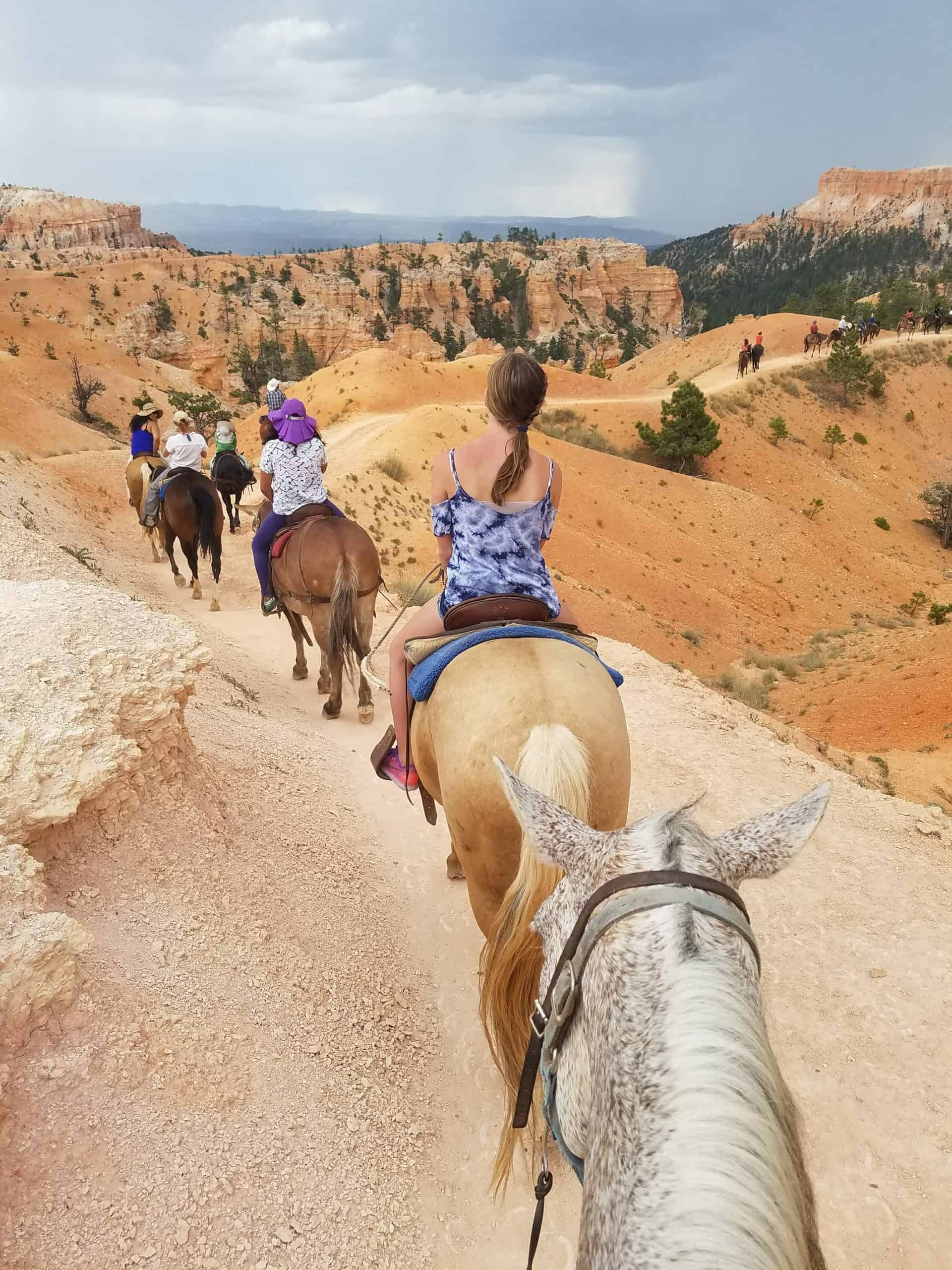 Horseback riding at Bryce Canyon is a thrill!