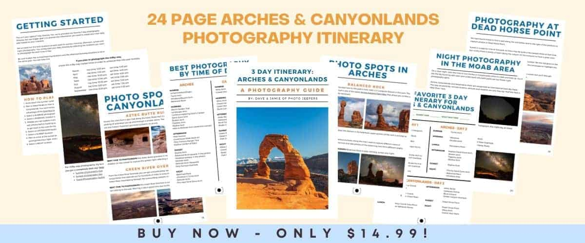 24 page arches and canyonlands photography itinerary