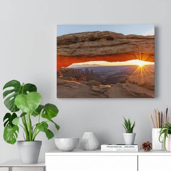 Mesa Arch at sunrise canvas wall hanging