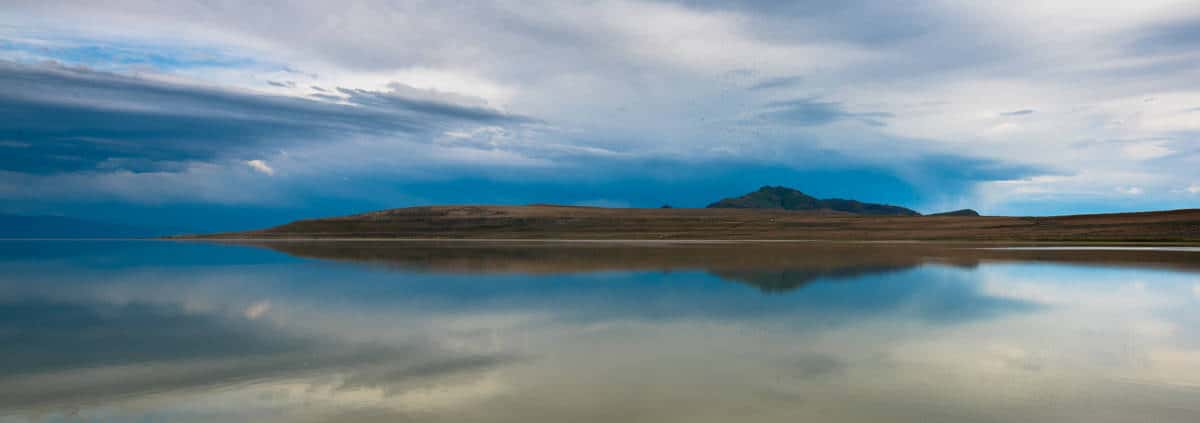 Reflection in the Great Salt Lake at Antelope Island.