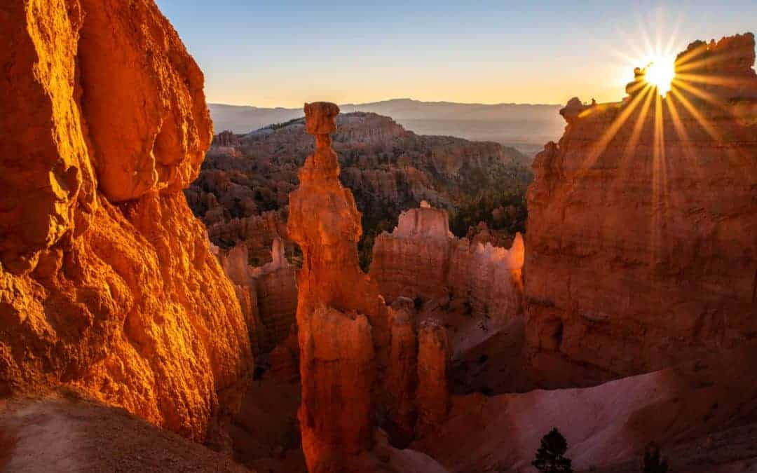 Bryce Canyon sunrise in the summer.