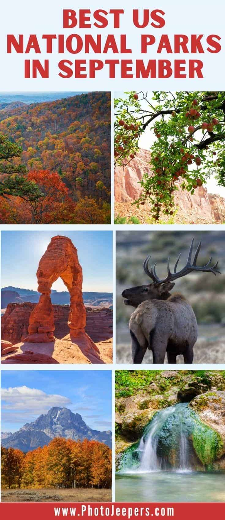 Best US National Parks in September