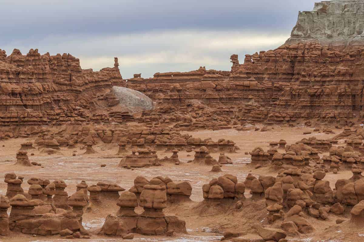 The unique landscape of Goblin Valley State Park.