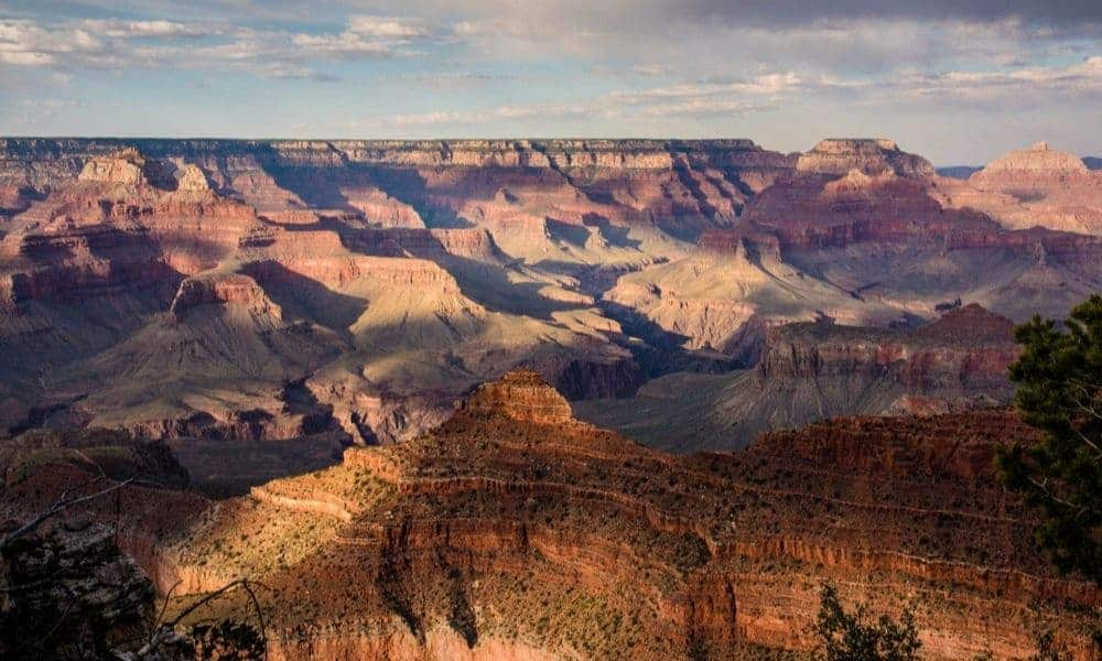 View of Grand Canyon national park in the summer.