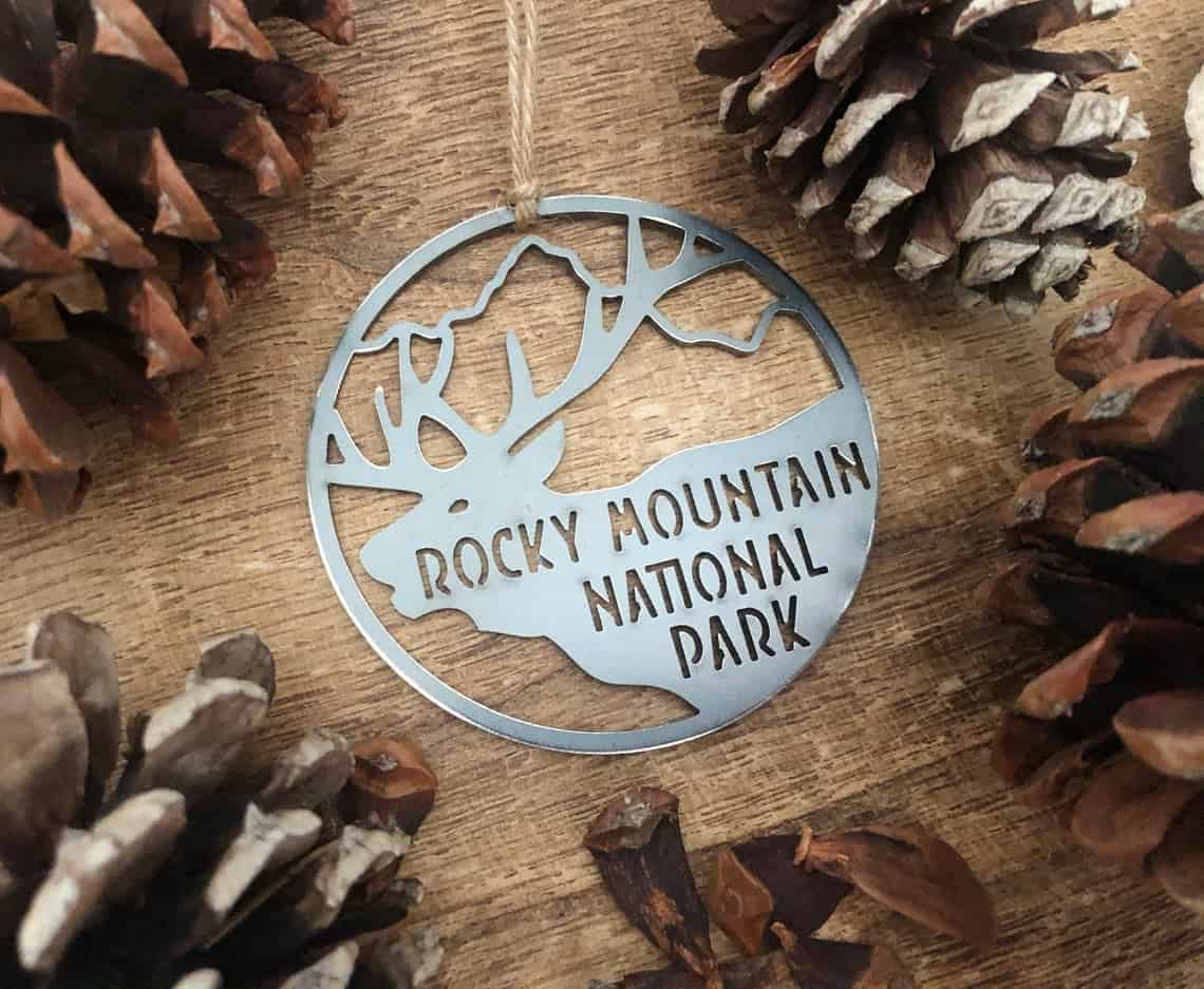 rocky mountain national park metal ornament