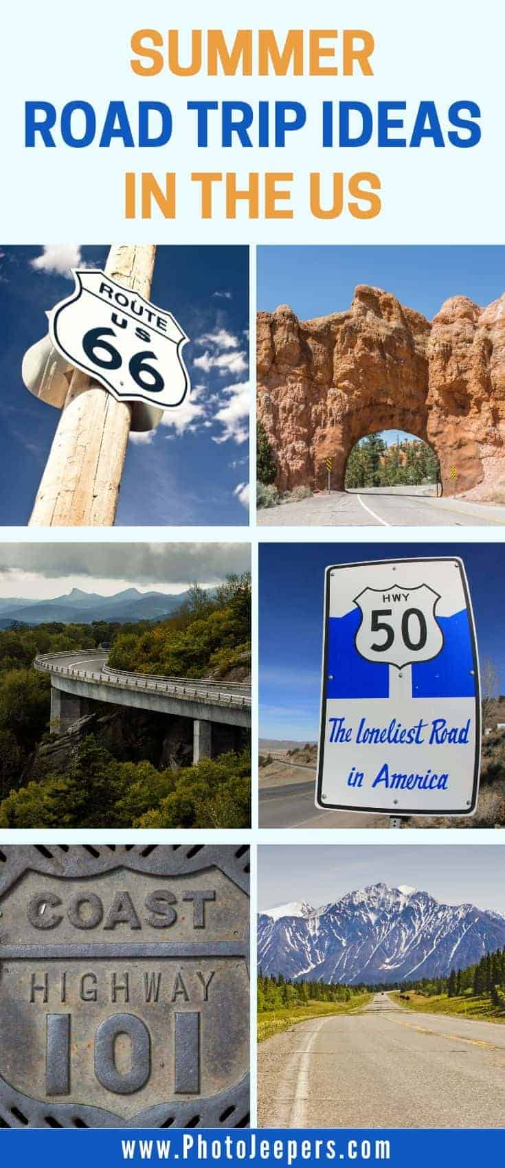 summer road trip ideas in the US